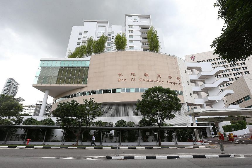 Facade of Ren Ci Community Hospital located at Irrawaddy Road.