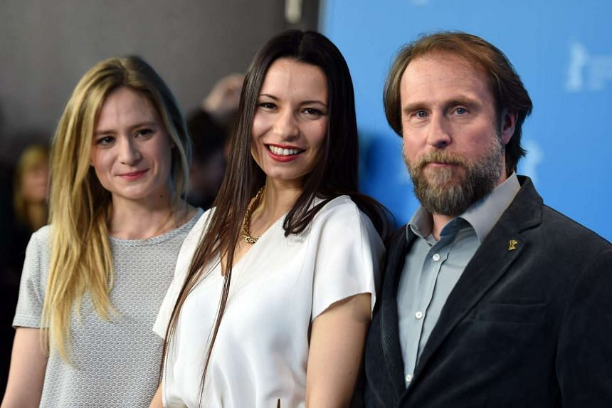 (From left) German actress Julia Jentsch, German director Anne Zohra Berrached and German actor Bjarne Maedel pose during a photocall for '24 Wochen' (24 Weeks) at the 66th annual Berlin International Film Festival, in Berlin, Germany, on Feb 14, 201