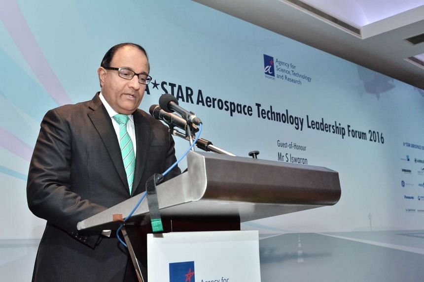 Mr S. Iswaran, Minister for Trade and industry, gave the opening speech at the Aerospace Technology Leadership Forum.