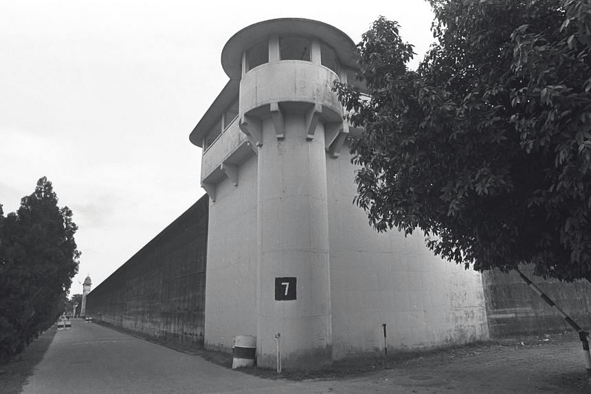 An exterior view of Changi Prison.