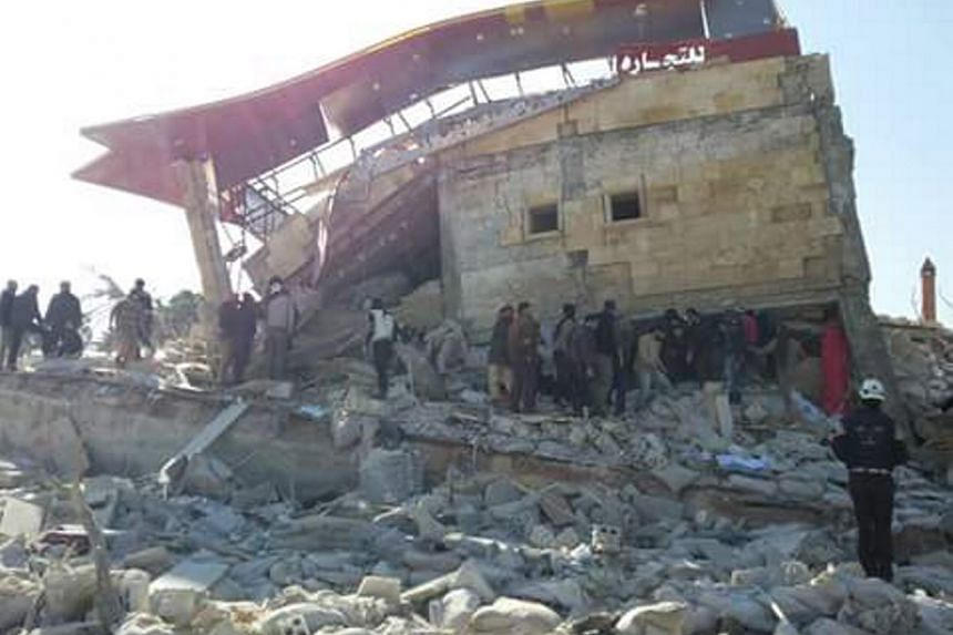 Destruction and rubble at an MSF-supported hospital in Idlib province in northern Syria, largely destroyed in an attack on early Feb 15, 2016.