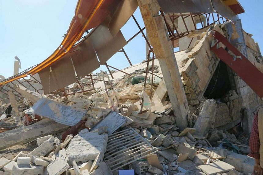 Destruction of an MSF-supported hospital in Ma'arat Al Numan, northern Syria, after the Feb 15 airstrikes.
