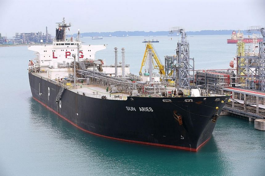 Tank storage company Vopak received its first cargo on Sunday from Exxon Mobil Asia Pacific at its facility on Jurong Island. The independent LPG import and storage terminal - the first of its kind in South-east Asia - has an initial capacity of abou