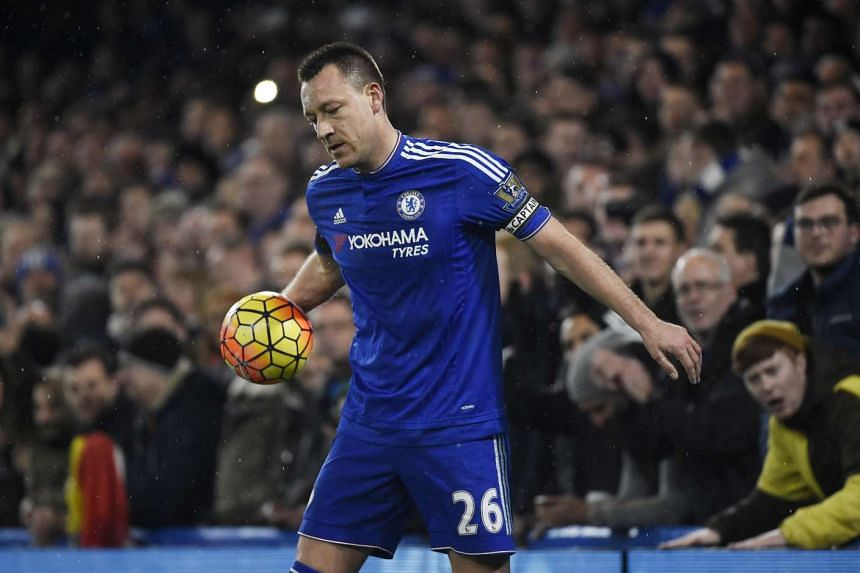 Chelsea's John Terry at the match against Newcastle United on Feb 13, 2016.