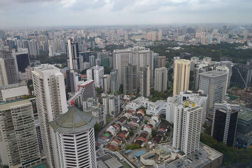 Aerial view of Cairnhill estate and Orchard Road area.