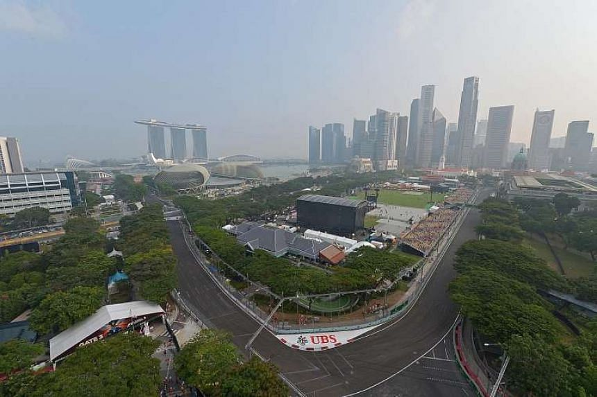 A view of the Padang and the CBD as seen from Swissotel The Stamford.