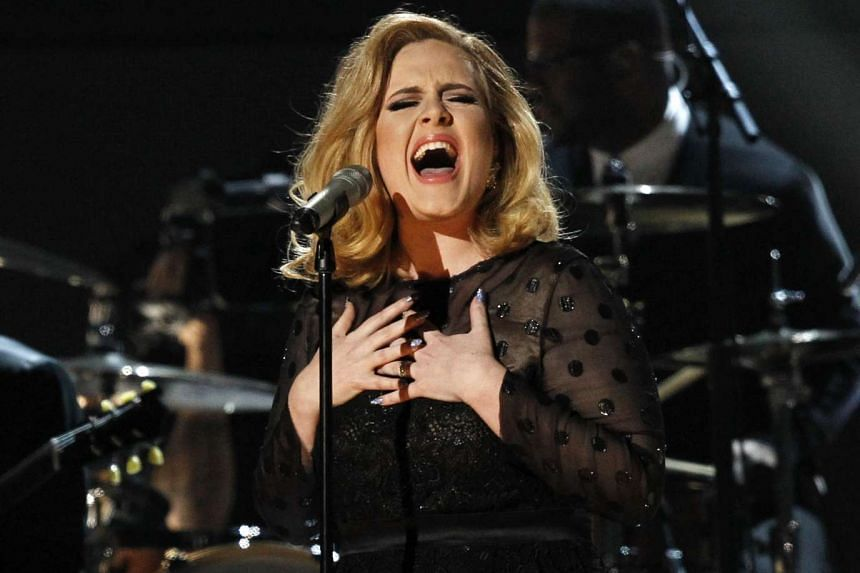 Adele performs at the 54th annual Grammy Awards in this Feb 12, 2012 photo.