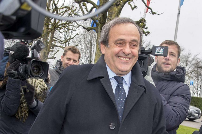 Former Uefa President Michel Platini arrives at the Fifa Headquarters in Zurich.
