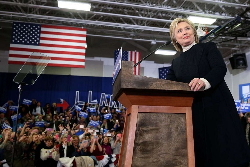 Democratic presidential candidate, former Secretary of State Hillary Clinton speaks at her primary night gathering at Southern New Hampshire University on Feb 9, 2016 in Hooksett, New Hampshire.