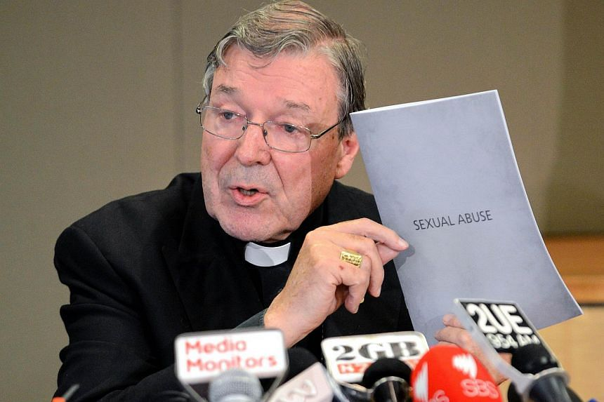 Cardinal George Pell during a press conference in Sydney in 2012.