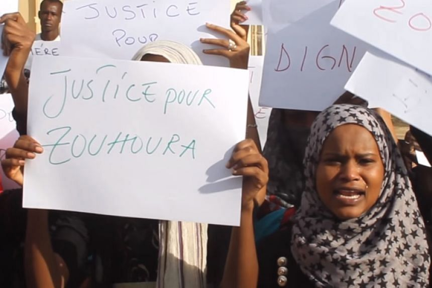 Public anger in Chad over Zouhoura's gang-rape.
