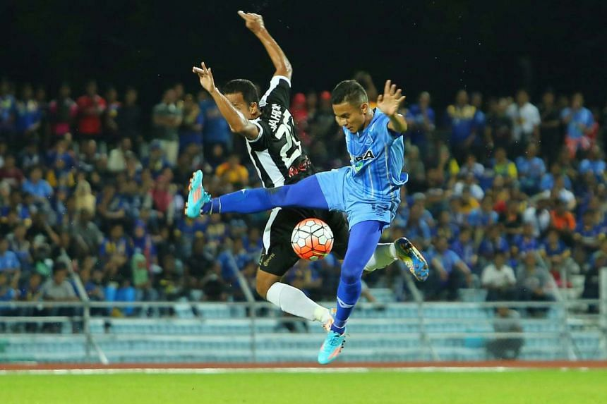 Faiz Subri's (right) remarkable free kick has attracted international acclaim but he says Tuesday's MSL goal was the result of hard work during training.