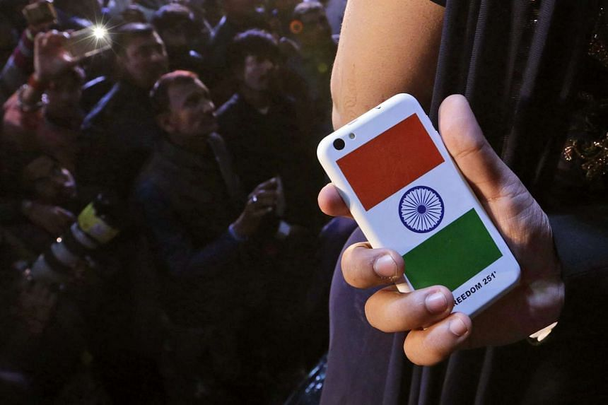The Freedom 251 smartphone, launched by the Indian company, Ringing Bells.