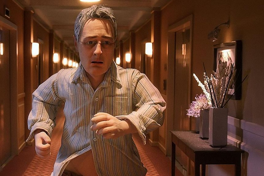 Stop-motion animated film, Anomalisa (top) is directed by Duke Johnson (above left) and Charlie Kaufman (above right).