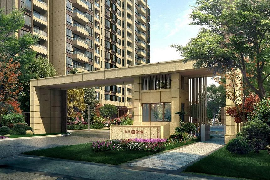 Artist's impression of Lotus Mansion, a CapitaLand residential development in Shanghai. CapitaLand says it achieved record sales of 9,402 residential units in China, valued at 15.4 billion yuan ($3.3 billion), in 2015, with 2,910 of the units sold in