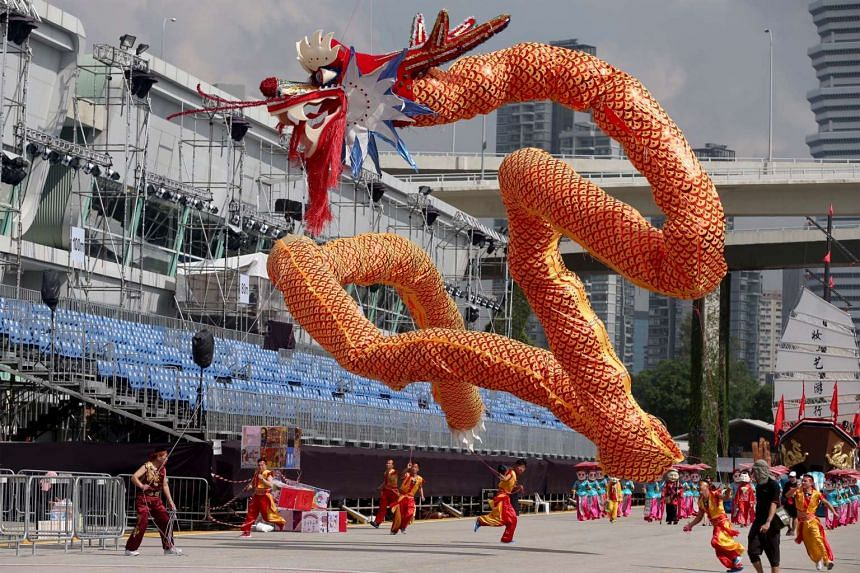 The Shaanxi 66-metre flying LED dragon will make its world debut during Chingay 2016.