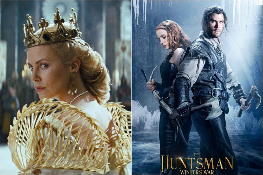 Hollywood stars (from left) Charlize Theron, Jessica Chastain and Chris Hemsworth will be in Singapore in April to promote their new movie The Huntsman: Winter's War.