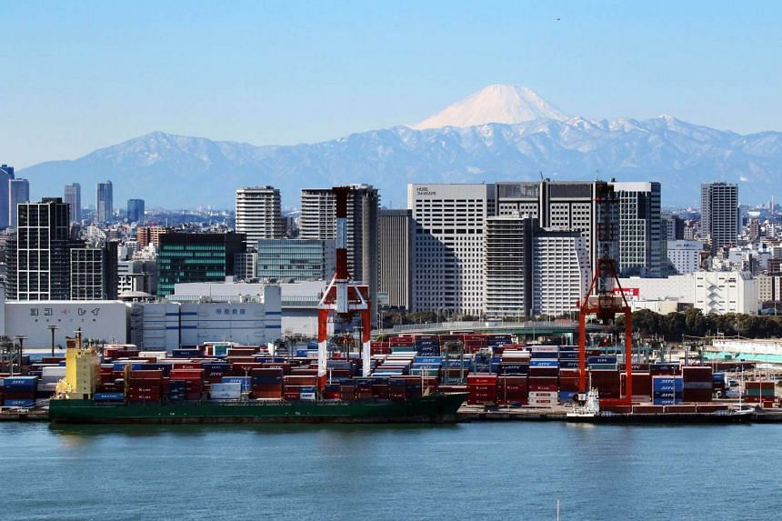 Japan's exports fell for a fourth consecutive month and dropped the most since 2009.