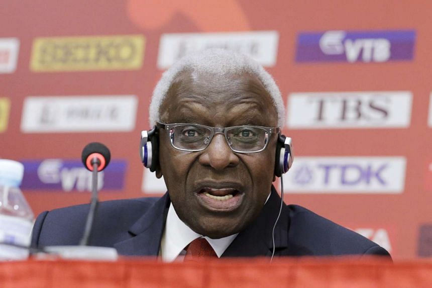 Disgraced ex-IAAF president Lamine Diack, whose son was questioned for several hours in Senegal.