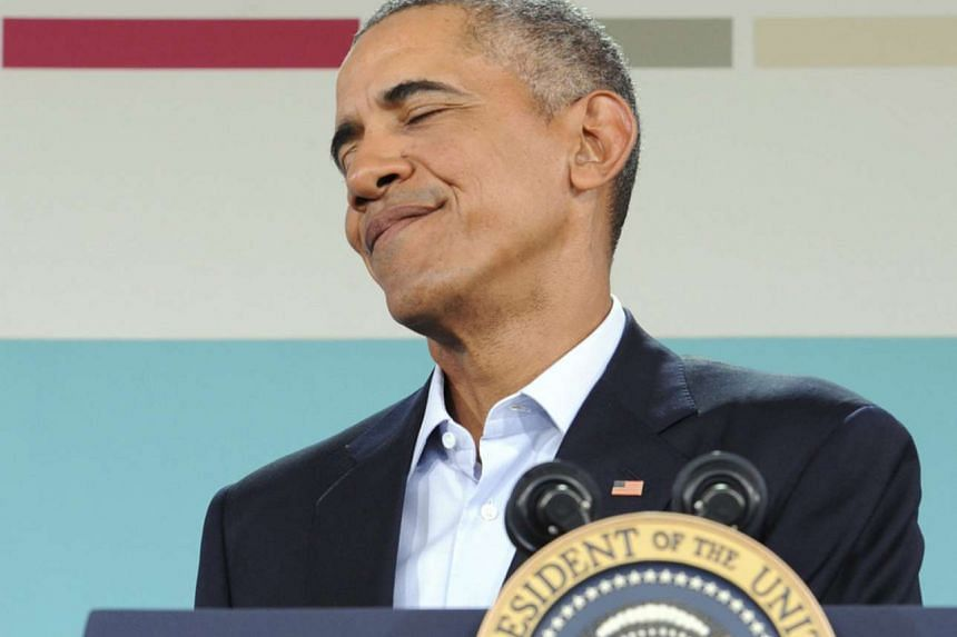 US President Barack Obama during a press conference at the US-ASEAN Summit in Sunnylands, California, on Feb 16.