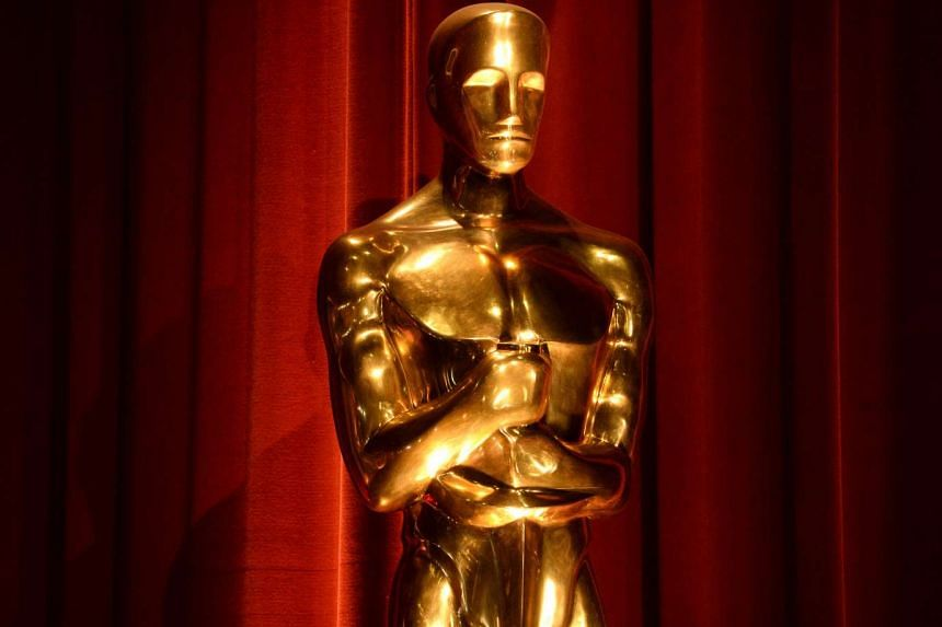 An Oscar statue at the 88th Academy Awards in Beverly Hills, California, on Jan 14, 2016.