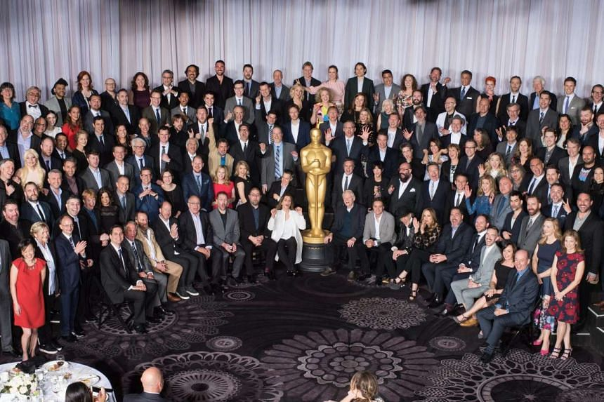 Oscar nominees pose at a nominees luncheon in Beverly Hills, California, Feb 8, 2016.