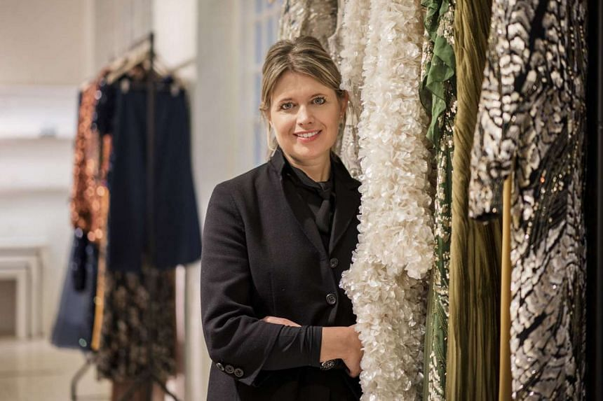 Jenny Packham (above), the British eveningwear designer, at her showroom in London.