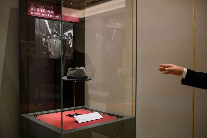 A hat worn by the late reverend Sun Myung Moon at the Cheon Jung Gung Museum of the Unification Church, Seoul.