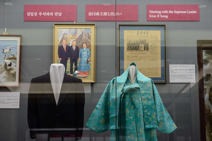 Clothes worn by the late reverend Sun Myung Moon and his wife Hak Ja Han when they met the late North Korean leader Kim Il-Sung.