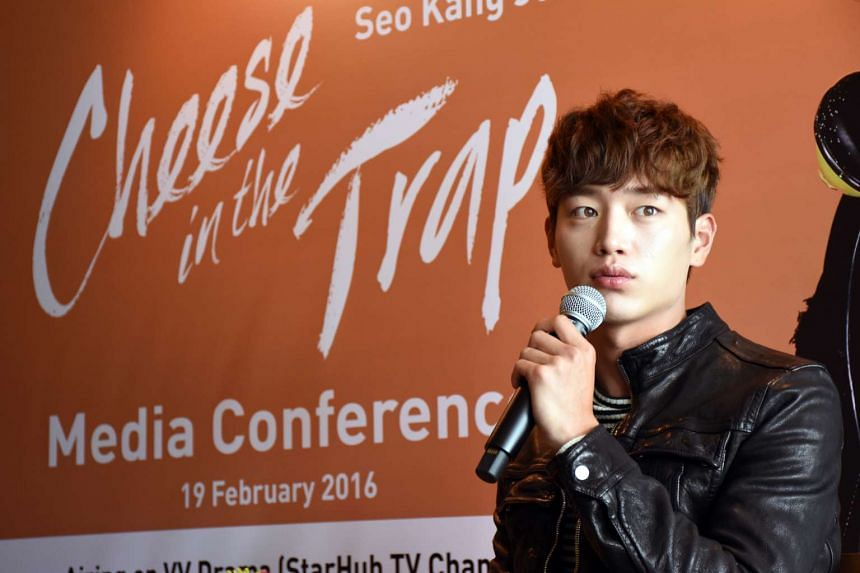 Seo Kang Jun is in Singapore to promote the drama Cheese In The Trap.