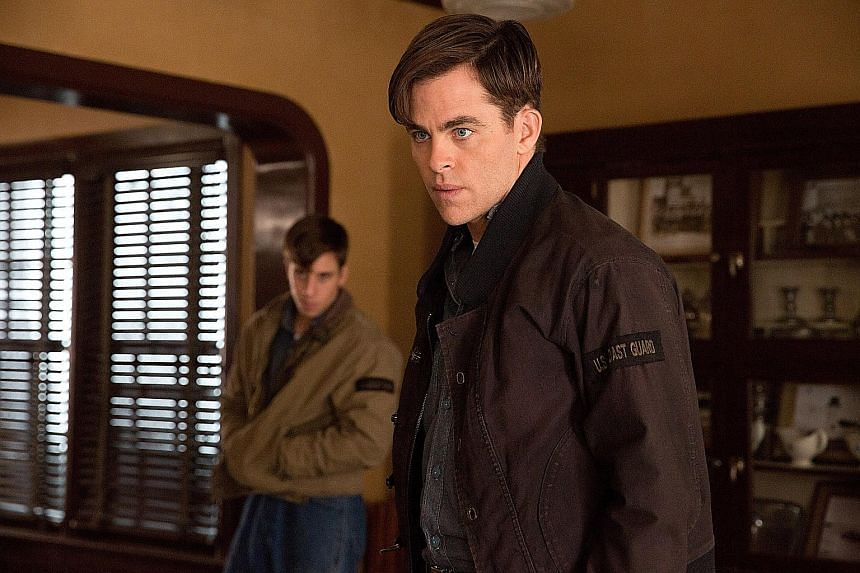 Chris Pine plays the wide-eyed, straightforward hero in The Finest Hours.