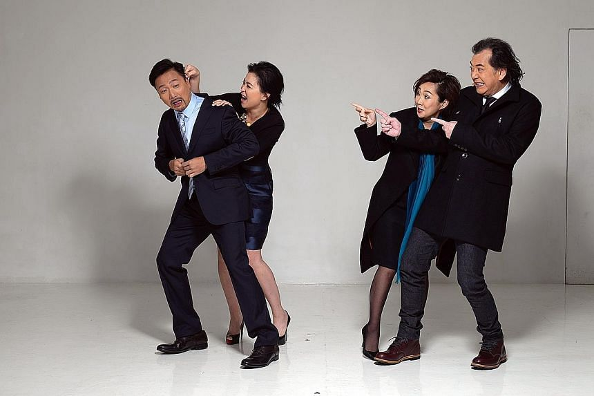 (From left) Poon Chan Leung, Louisa So, Olivia Yan and Anthony Wong in God Of Carnage.