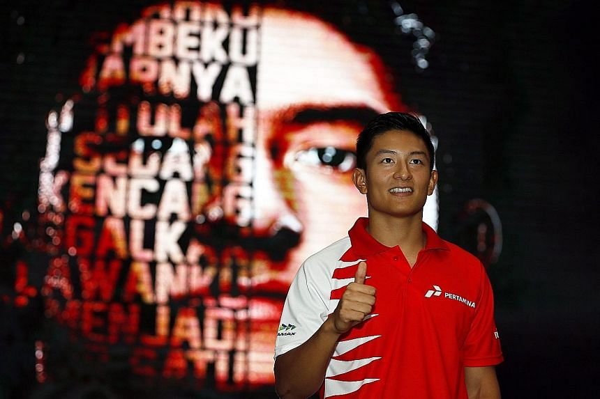 A historic moment for Indonesia as Rio Haryanto is named as the new Formula One driver for British team Manor Racing in Jakarta yesterday. His team-mate is German rookie Pascal Wehrlein.