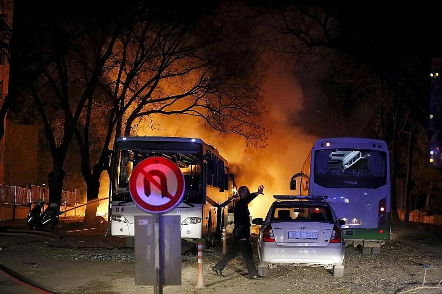 The massive bomb blast on Wednesday struck five buses carrying military service personnel at a traffic light in the centre of the Turkish capital Ankara. The attack killed 28 people and wounded 61 others.