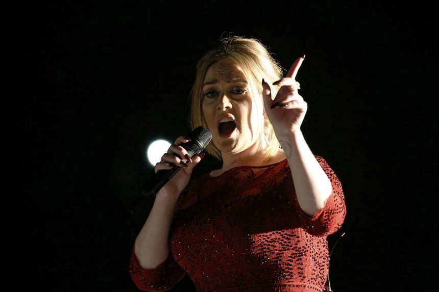 Adele performs All I Ask on stage at the Grammys on Feb 15, 2016.