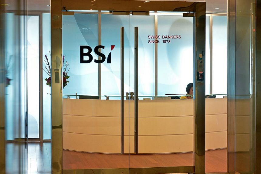 Swiss bank BSI's Singapore office at Suntec City.