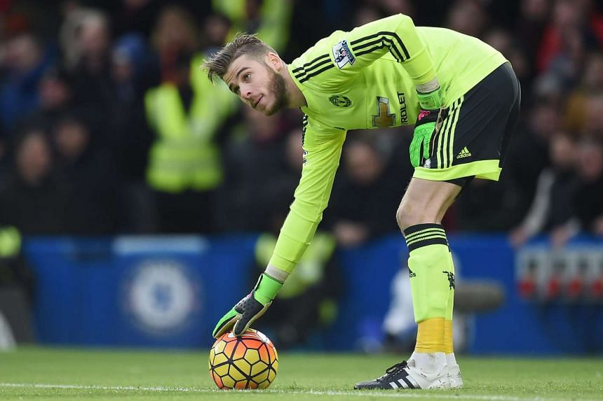 De Gea (above) failed to respond to treatment and was replaced in the team by Sergio Romero.