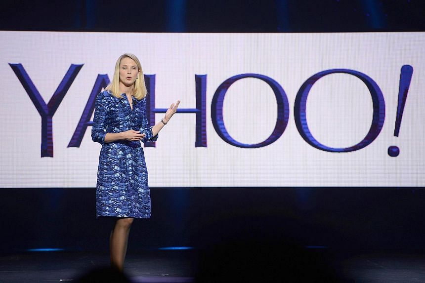Yahoo CEO Marissa Mayer speaking during her keynote address at the 2014 International CES.