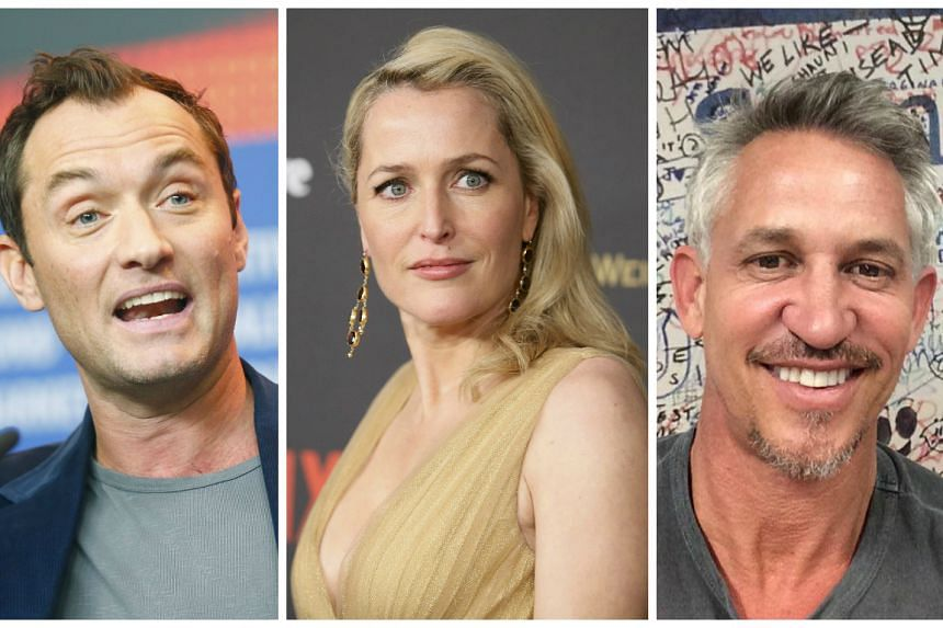 Jude Law, Gillian Anderson and Gary Lineker are among stars who have appealed to Prime Minister David Cameron.