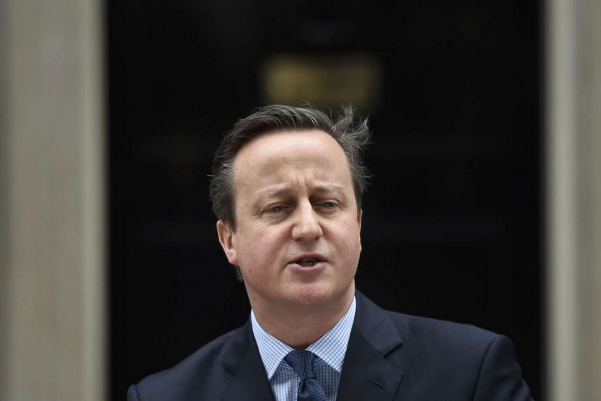 Britain's Prime Minister David Cameron speaks outside Downing Street in London on Feb 20, 2016.