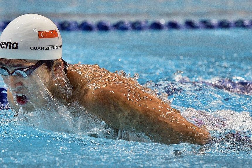 In Austin last month, Quah Zheng Wen won the men's 200m butterfly 'A' final - albeit in a depleted field and in a time more than a second off his personal best - even with a full training load.