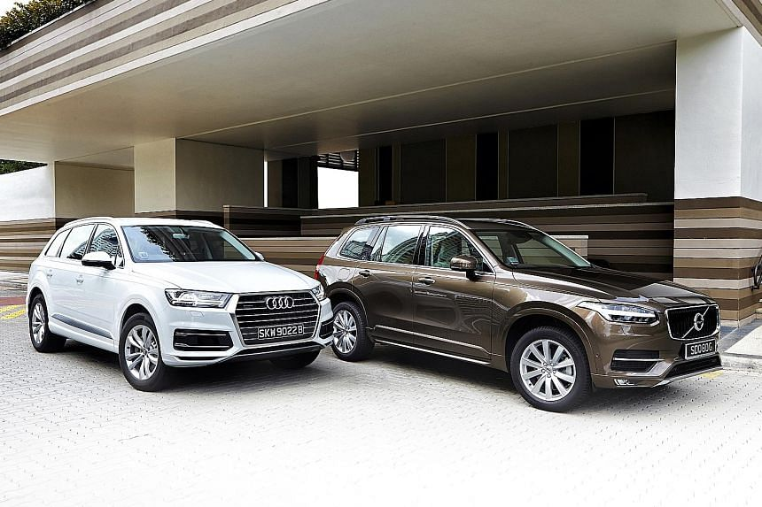 Seater SUVs From Audi And Volvo Faceoff Motoring News Top - Q7 audi