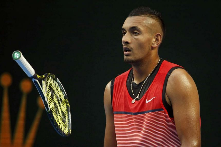 Australian Nick Kyrgios (above, in a file photo) whipped home hope Richard Gasquet 6-0, 6-4.