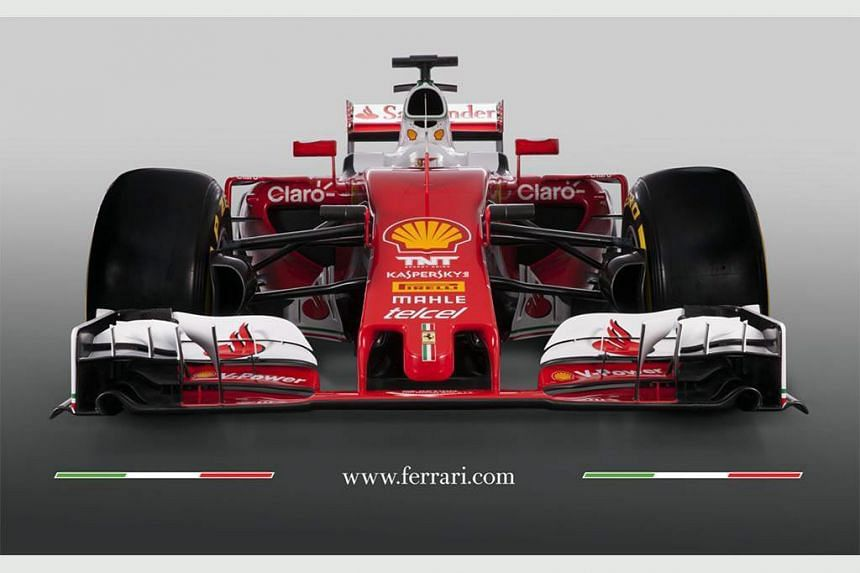 A handout picture provided by the Ferrari Press Office on Feb 19, 2016, shows the new Formula One car 'SF16-H' for the upcoming 2016 Formula One World Championship.