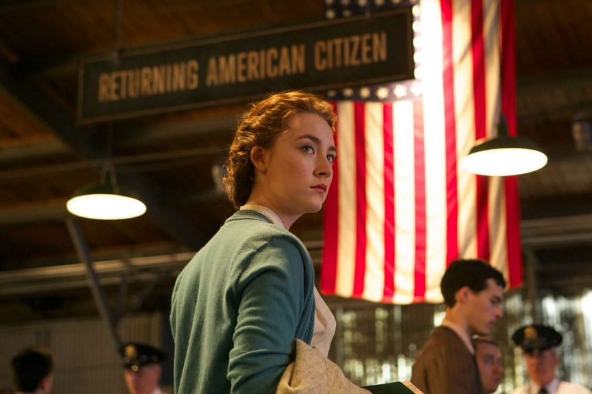 Saoirse Ronan (above) plays a young Irish woman who emigrates to New York in the 1950s in the film Brooklyn.