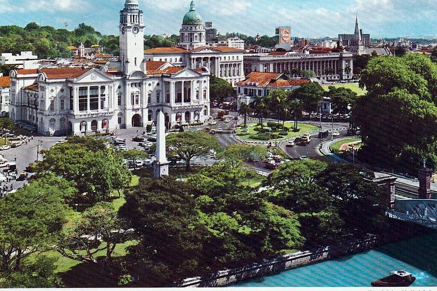 Mr Fong, a Briton, submitted postcard images that show landmarks such as The Sultan Mosque (above) and Empress Place (left).