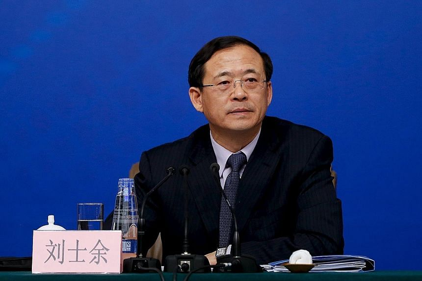 Mr Liu Shiyu (left), chairman of the Agricultural Bank of China and a former deputy governor of the central bank, replaces Mr Xiao Gang (above) as chairman of the China Securities Regulatory Commission.