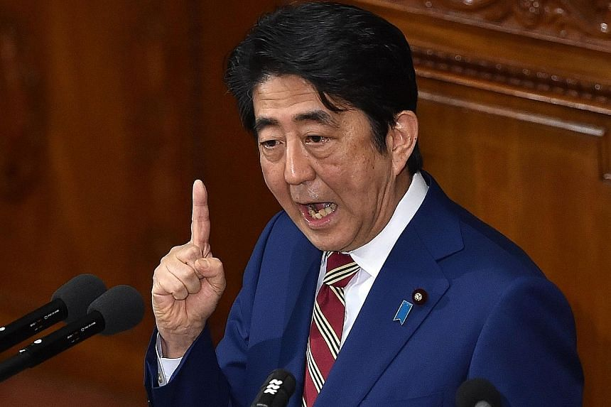 Mr Shinzo Abe does not need to call an election until December 2018.