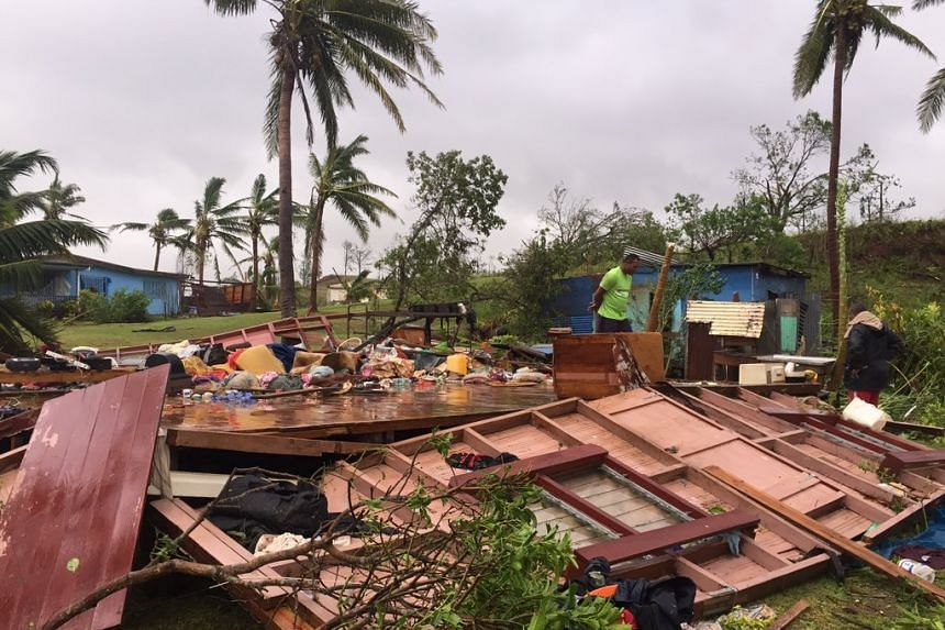 A photo of the aftermath of Cyclone Winston posted to Twitter.