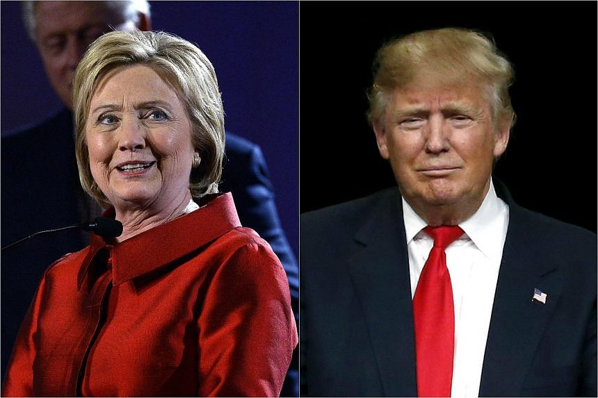 Democratic Presidential candidate Hillary Clinton (left) and Republican presidential candidate Donald Trump.